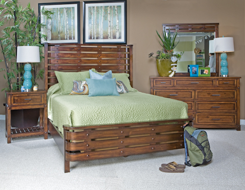 Image of Eco Jack Slat Panel Bed