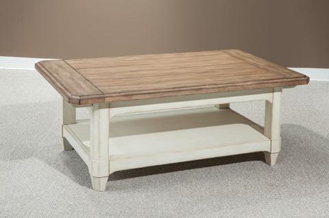 Palmetto Home - Rectangular Storage Cocktail Table - 112-801