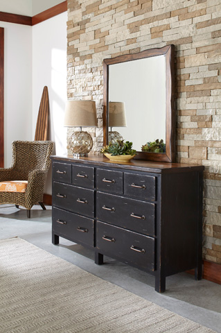 Palmetto Home - Dresser with Mirror - 120-DRMR/120-04/120-40