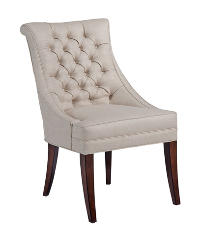 Image of Button Back Tufted Dining Chair