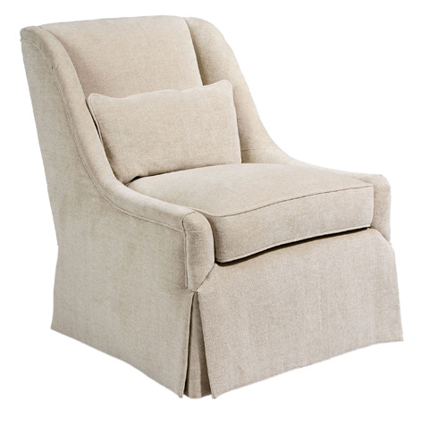 Image of Skirted Sloped Arm Chair