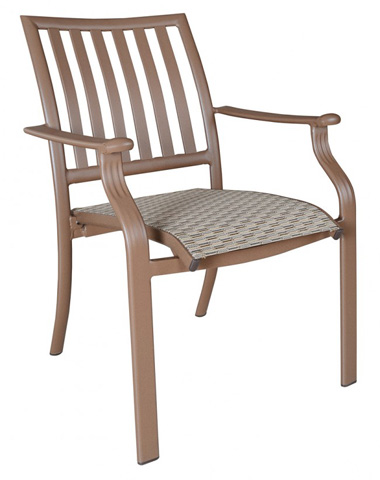 Image of Stackable Sling Arm Chair in Espresso Finish