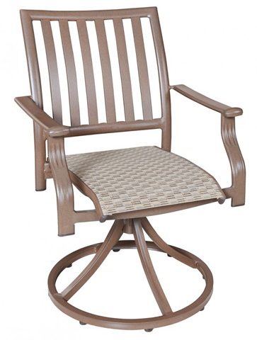 Image of Swivel Rocking Dining Chair in Espresso Finish
