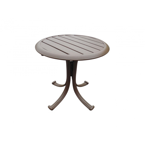 Image of End Table with Slatted Aluminum Top