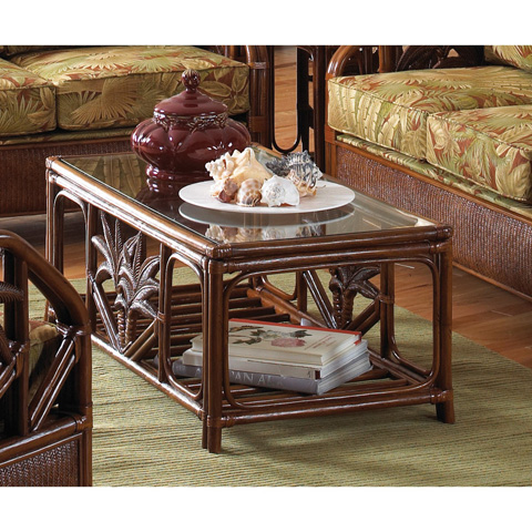 Image of Rattan and Wicker Coffee Table