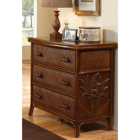 Image of Havana Palm Three Drawer Chest