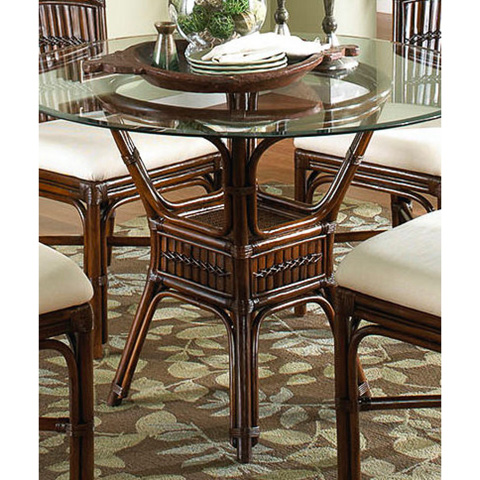 Image of Tahiti Indoor Rattan and Bamboo Round Dining Table