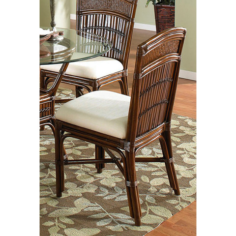 Image of Tahiti Indoor Rattan and Bamboo Side Chair