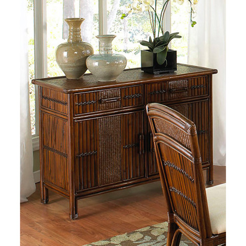 Image of Tahiti Indoor Rattan and Wicker Buffet