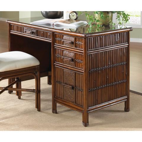 Image of Tahiti Rattan and Bamboo Desk
