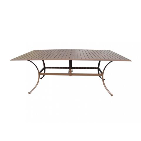 Slatted Aluminum Rectangular Dining Table Pjo 1001 Esp