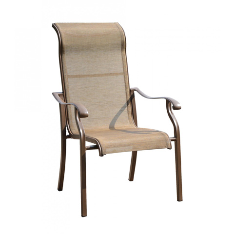 Image of High Back Sling Arm Chair