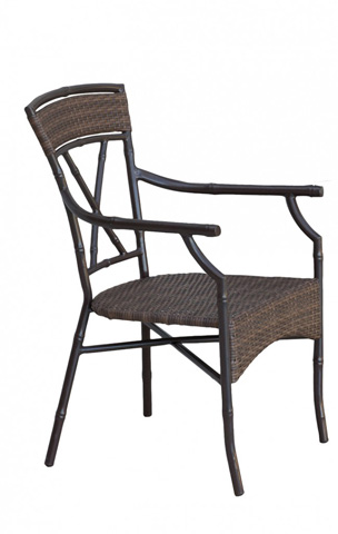Pelican Reef - Panama Jack Rum Cay Stackable Arm Chair - PJO-1201-ATQ-AC