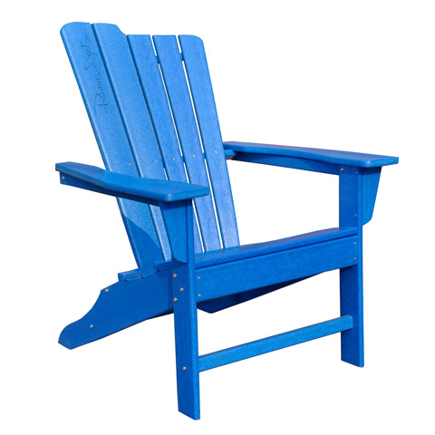 Image of Panama Jack Blue Adirondack Chair