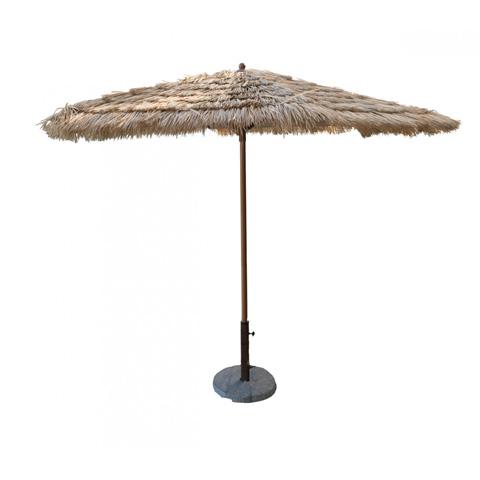 Pelican Reef - Panama Jack 9' Tiki Thatch Aluminum Crank Umbrella - PJO-6001-TIK-UM