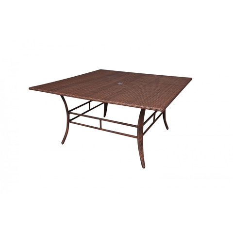 Image of Panama Jack Key Biscayne Woven Square Dining Table