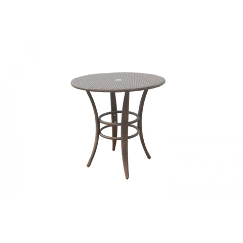 Image of Panama Jack Key Biscayne Woven Round Bistro Table