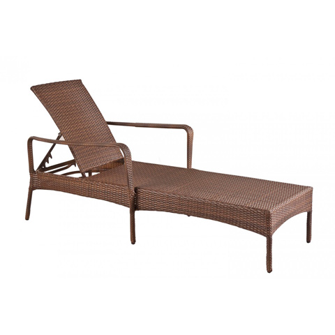 Image of Key Biscayne Stackable Woven Chaise Lounge