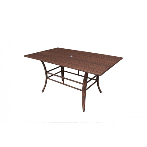 Pelican Reef - Panama Jack Key Biscayne Woven Dining Table - PJO-7001-ATQ-RT