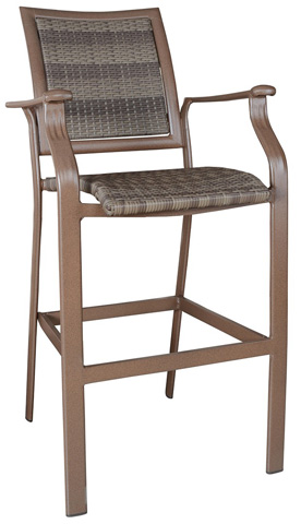 Image of Panama Jack Island Cove Woven Stationary Barstool