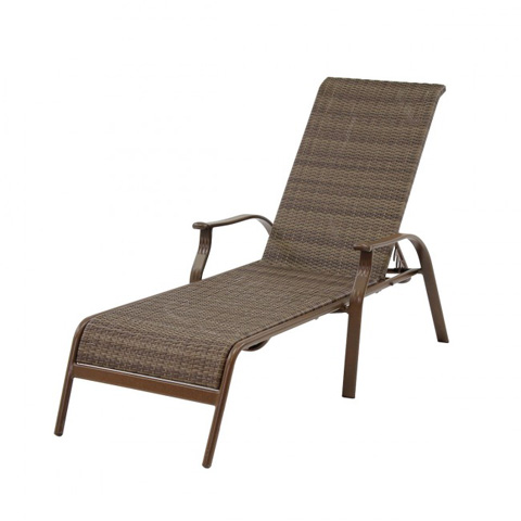 Image of Island Cove Woven Stackable Sling Chaise Lounge