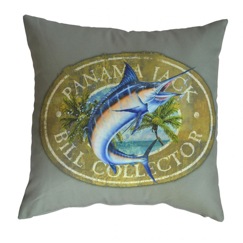 Image of Panama Jack Bill Collector Throw Pillow