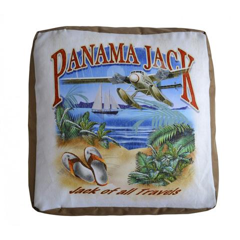 Pelican Reef - Panama Jack Jack of all Travels Pouf Ottoman - PJO-9001-JAT-OT