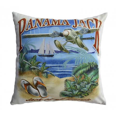 Image of Panama Jack Jack of all Travels Throw Pillow