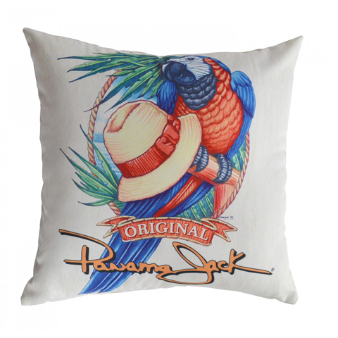 Image of Panama Jack Panama Parrot Throw Pillow