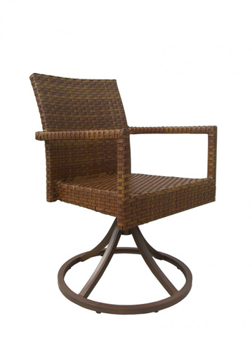 Image of St. Barths Swivel Dining Chair