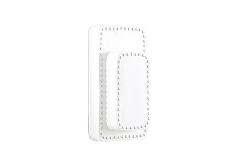 Phillips Collection - Rectangular Wall Decor in White - PH62136
