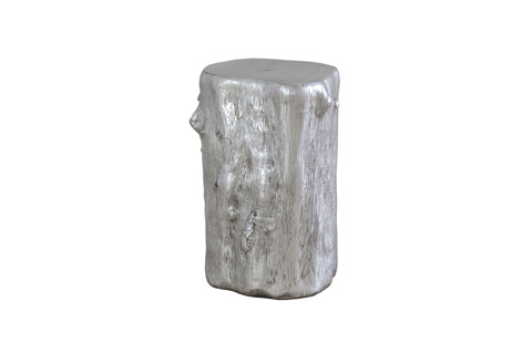 Phillips Collection - Silver Leaf Log Stool - PH55914
