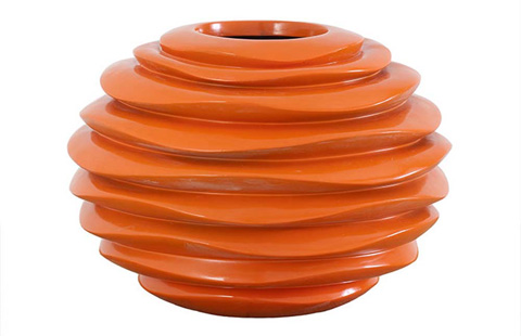 Phillips Collection - Small Spiral Bowl in Orange - PH60979