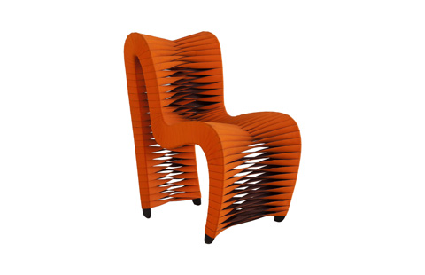 Phillips Collection - Seat Belt Dining Chair in Orange - B2061ZZ