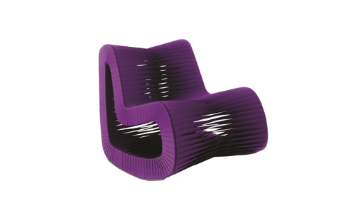 Phillips Collection - Seat Belt Rocking Chair in Purple - B2063PU