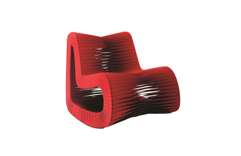 Phillips Collection - Seat Belt Rocking Chair in Red - B2063RZ