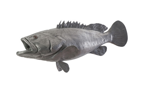 Phillips Collection - Estuary Cod Fish in Polished Aluminum - PH64542