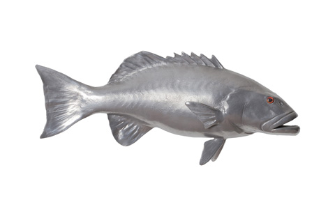 Phillips Collection - Coral Trout Fish in Polished Aluminum - PH64544