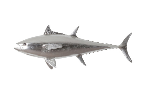 Phillips Collection - Bluefin Tuna Fish in Silver Leaf - PH64547