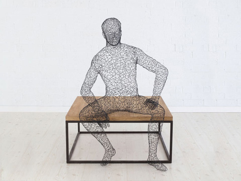 Phillips Collection - Crazy Wire Dining Male Sculpture - PH64908