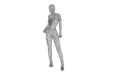 Phillips Collection - Crazy Wire Standing Female Mini - PH65713