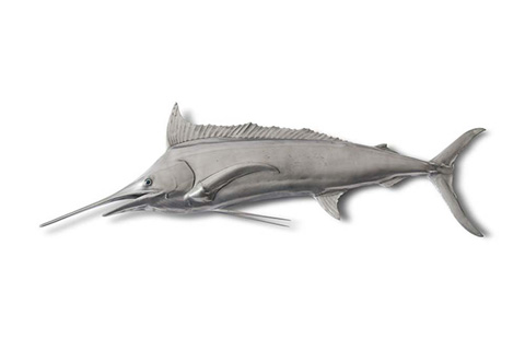 Phillips Collection - Blue Marlin Fish in Aluminum Finish - PH67450