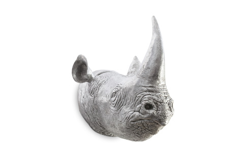Phillips Collection - Rhinoceros Wall Sculpture in Silver Leaf - PH67513