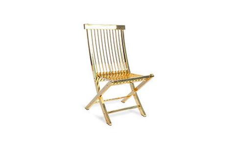 Phillips Collection - Slatted Folding Chair in Polished Brass - CH72556