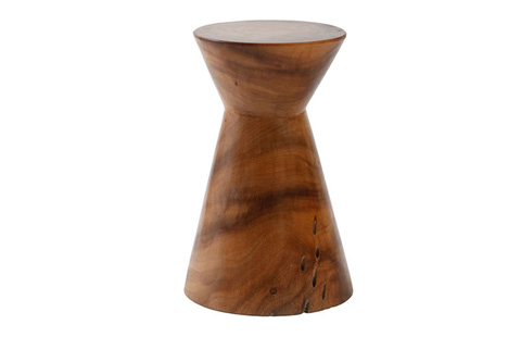 Image of High Hourglass Wood Pedestal