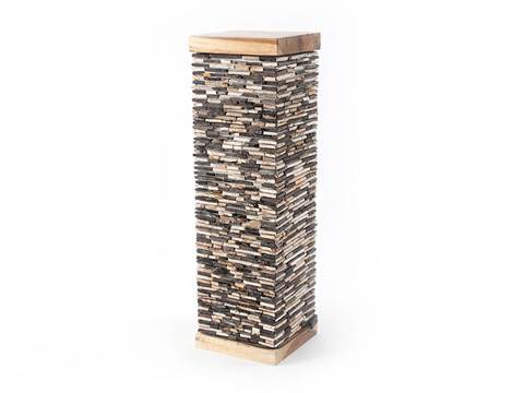 Phillips Collection - Petrified Mosaic Pedestal - ID66394