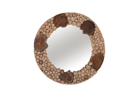 Phillips Collection - Teak Patch Stick Mirror - ID75317