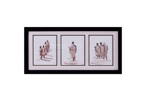 Phillips Collection - Monks in File Watercolor - TH63224