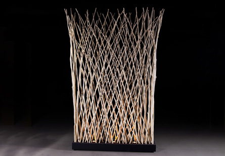 Image of Driftwood Stick Screen with Light