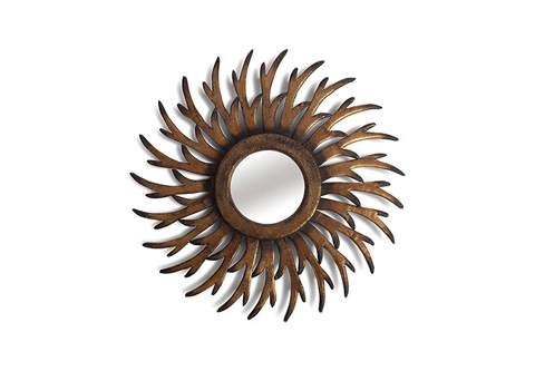 Phillips Collection - Wooden Antler Wheel Mirror - TH66212